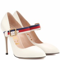 Sylvie leather pumps