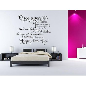 Once Upon A Time I Became Yours Vinyl Wall Sayings
