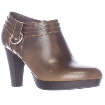 American Living Genevie Low Platform Ankle Booties - Dark Brown