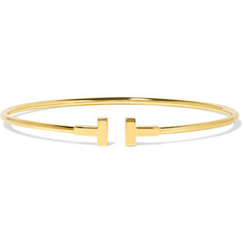 Tiffany & Co. - T Wire Narrow 18-karat gold bracelet