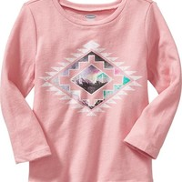Old Navy Long Sleeve Graphic Tee For Baby
