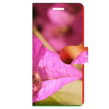 Purple Bougainvillea Apple iPhone 6 Plus Leather Folio Case