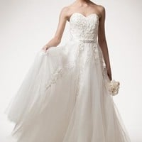Beautiful Off-White by AG Studio Tulle Wedding Dress