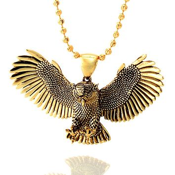 The 14K Gold Great Horned Owl Necklace