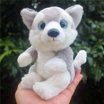 Blue Eyes Husky Dog Stuffed Animal Plush Toy 6""