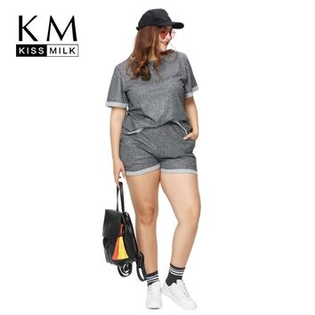 Kissmilk 2017 Women Plus Size Fashion Casual Slim Sexy Shorts Street Wear Loose Big Size Shorts 3XL 4XL 5XL 6XL