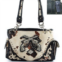 Cowhide Gun Concealment Purse