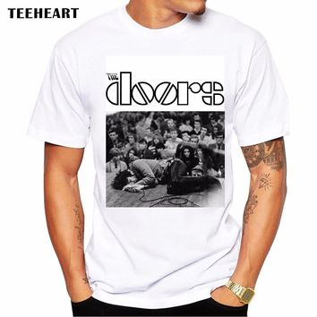 New Summer The Doors T Shirts Men Modal Short Sleeve O Neck Letter Printed Man Rock T-Shirt Fashion Jim Morrison Male Tops Tees