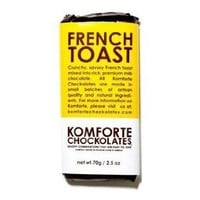 Komforte Chockolates, French Toast in Milk Chocolate, 2.5-Ounce Bar
