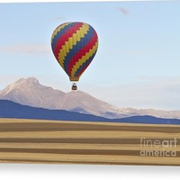 Hot Air Balloon And Longs Peak Canvas Print