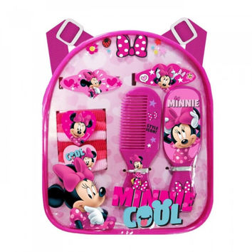 Minnie Mouse Backpack W Asst Hair Access
