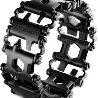 Leatherman Stainless-Steel Tread Bracelet Multitool - Black