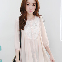 Draping Lace Blouse