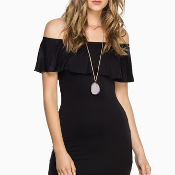 ShopSosie Style : Santana Dress in Black