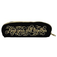Keep Your Shit Together Pouch in Black with Gold Calligraphy
