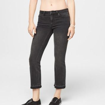 Seriously Stretchy Mid-Rise Crop Skinny Kick Flare Jean -