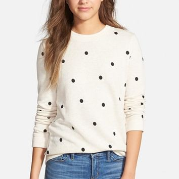 Women's Stem Polka Dot Sweatshirt,
