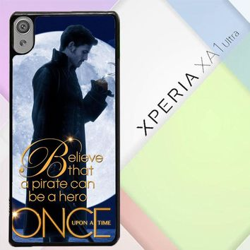 Once Upon A Time Captain Hook Believe F0542 Sony Xperia XA1 Ultra Case