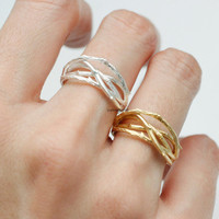 Adjustable Branch Twig Ring / Branch Ring / Twig Ring / Beautiful Ring / Pretty jewelry -  color as listed in 2 colors (Gold / Silver)