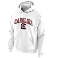 South Carolina Gamecocks Midsize Arch Pullover Hoodie - White