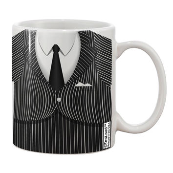 Pinstripe Gangster Jacket Printed Costume Printed 11oz Coffee Mug All Over Print