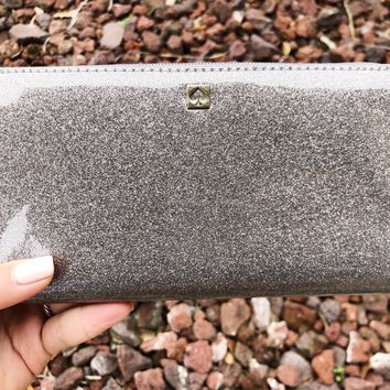 Kate Spade Mavis Street Neda Zip Around Wallet Gray