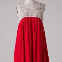 Get Together Dress - Red