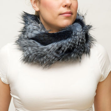 Faux Fur Scarf with Frog Closure
