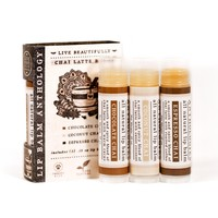 Chai Latte Lip Balm Set - All Natural Collection of 3 Flavors