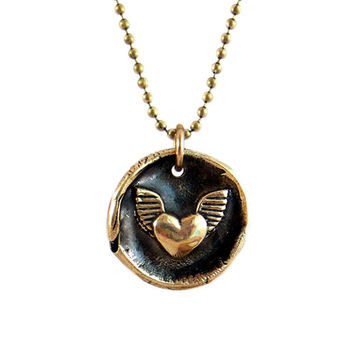 Reach Your Full Potential - Winged Heart Wax Seal Stamp