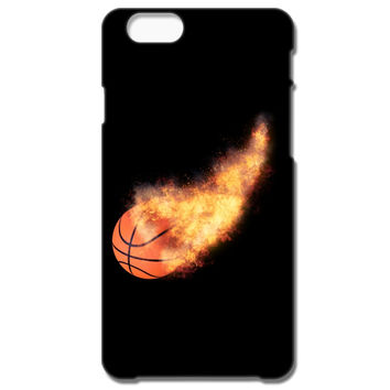 Flaming Basketball IPhone 66S Plus Case
