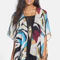 Band of Gypsies Print Kimono Cardigan (Juniors)