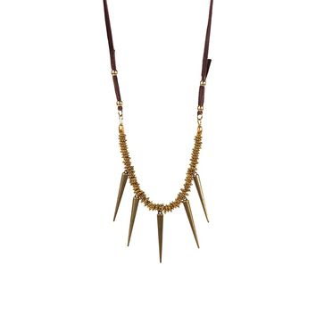 By Aqua Luna  5 Spiked Long Necklace