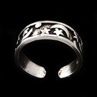 Sterling Silver Celestial Toe Ring
