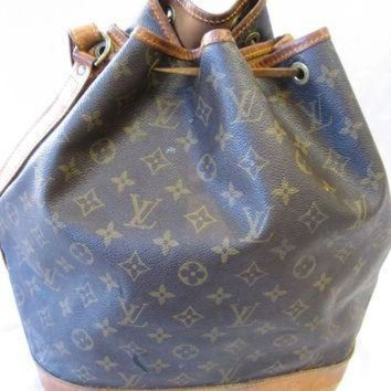VLX9RV Authentic Vintage Louis Vuitton Monogram Canvas Drawstring Bucket Bag