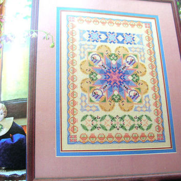 Cross Stitch Patterns , Quilt Designs in Cross Stitch , Vintage Book