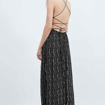 Ecote Safari Maxi Dress in Black - Urban Outfitters