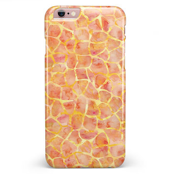 Watercolor Giraffe Pattern iPhone 6/6s or 6/6s Plus INK-Fuzed Case