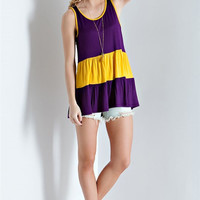LSU Colorblock Top