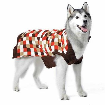 Mosaic Dog Sweater by Dogo - Brown