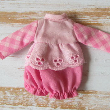 Vintage Raspberry Tart Doll Original Pink Outfit Bloomers Strawberry Shortcake Friend Vintage 80s