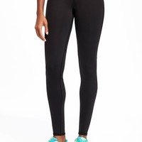 Go-Dry Mid-Rise Fitted Run Leggings for Women | Old Navy
