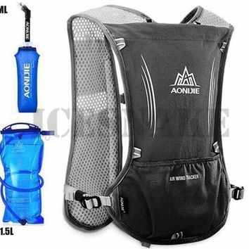 Running Vests Jogging AONIJIE Men Women 5L Running Backpack Outdoor Sports Trail Racing Hiking Marathon Hydration Vest Pack 1.5L Bag 600ML Kettle KO_11_1