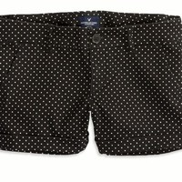 AEO Factory 's Patterned Midi Short (Black Jaspe)