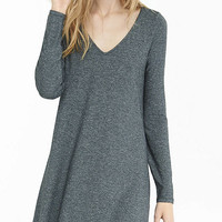 Marled Long Sleeve Trapeze Dress from EXPRESS