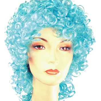 Curly Clown Disc Long Lavender women's wig for Halloween