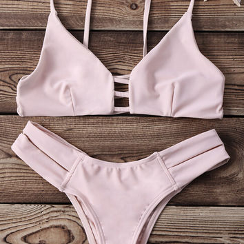 Strappy Banded Bikini Set Swimsuit