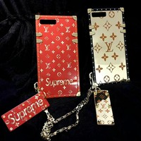 LV supreme tide brand fashion phone shell