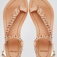 Bronx Plait Flat Sandals