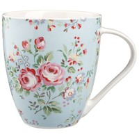 Buy Cath Kidston Crush Mug, Chelsea Rose, Blue online at JohnLewis.com - John Lewis